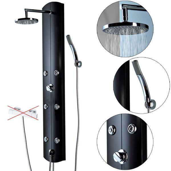 Aluminium Shower Panel Shower Column Massage Rain Shower Black Sanlingo – Bild 2