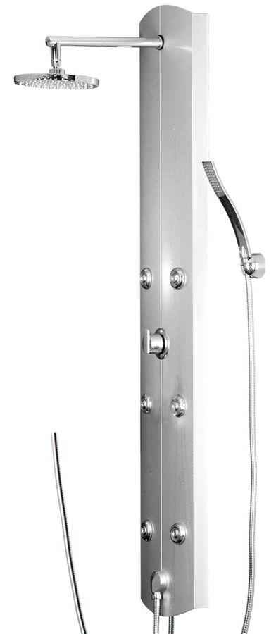 Aluminium Duschpaneel Regendusche Massage Handbrause Brauseanschluss Silber Sanlingo