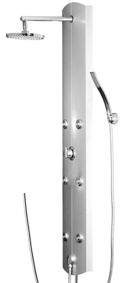 Aluminium Shower Panel Shower Column Massage Rain Shower Silver Sanlingo – Bild 1
