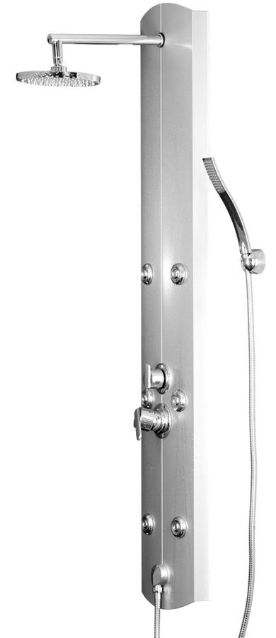 Aluminium Shower Panel Shower Column Massage Rain Shower Silver Sanlingo – Bild 1