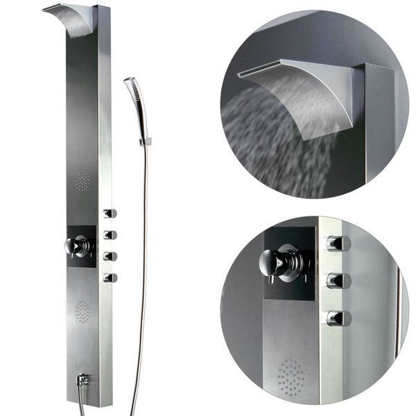 Stainless Steel Shower Panel Colum Anti-Fingerprint Rain Shower Massage Sanlingo – Bild 2