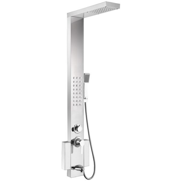 Stainless Steel Shower Column 3 COLOURS AVAILABLE Rain Shower Massage Bath Filler Sanlingo – Bild 3