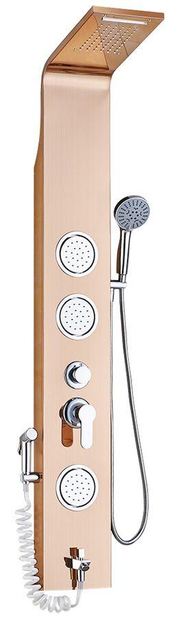 Duschpaneel Duschsäule Wasserfall Regendusche Massage Bidet Edelstahl Rose Gold Sanlingo – Bild 1