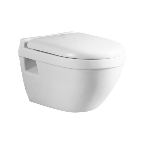 Wall Hung Mounted Toilet WC Pan without Rim with Soft Close Seat Toilet Lid Bathroom Sanlingo – Bild 7