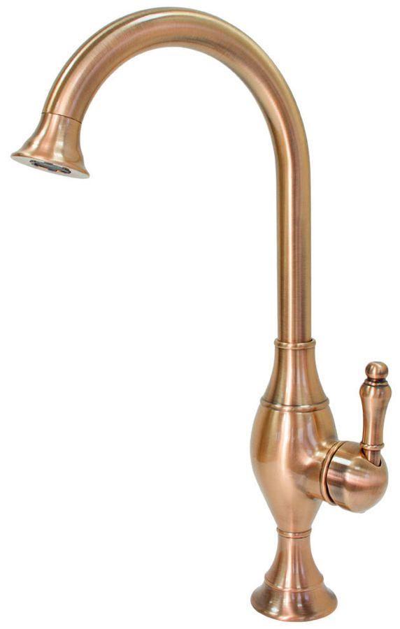 Retro Sanlingo Mono Tap Mixer Wash Basin Bath Swivel Spout Red Bronze Copper – Bild 1