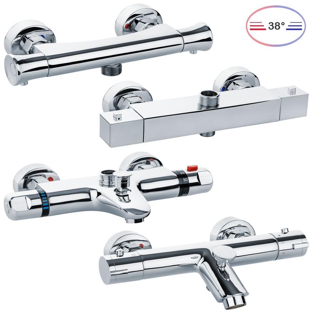 Relativ Thermostat Armatur für Dusche oder Badewanne Auswahl Bad Chrom QT34