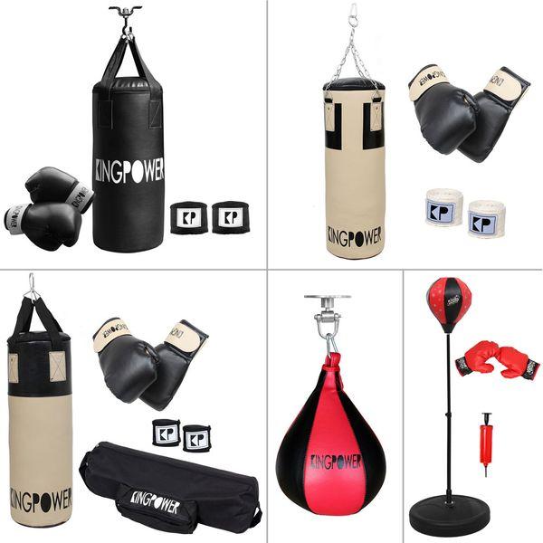 Auswahl Boxzubehör Boxset Boxsack Boxhandschuhe Bandagen Boxen Set Kingpower