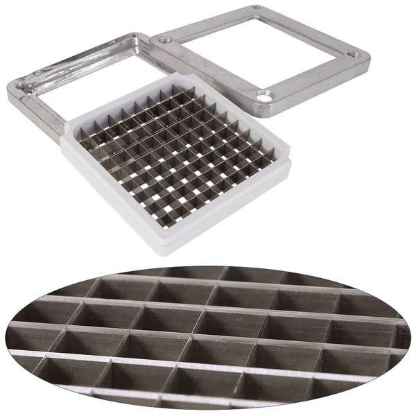 Edelstahl Stahl Pommesschneider Kartoffelschneider Schneidemaschine Gemüseschneider Obstschneider V2Aox – Bild 3