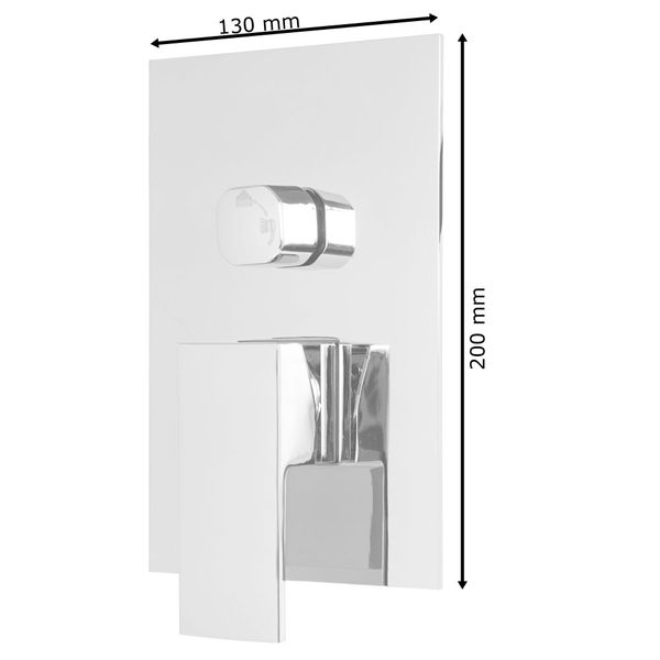 Concealed Complete Rain Shower Set 2 Outlet Diverter Tap Hand Mounting Box Chrome Sanlingo – Bild 3