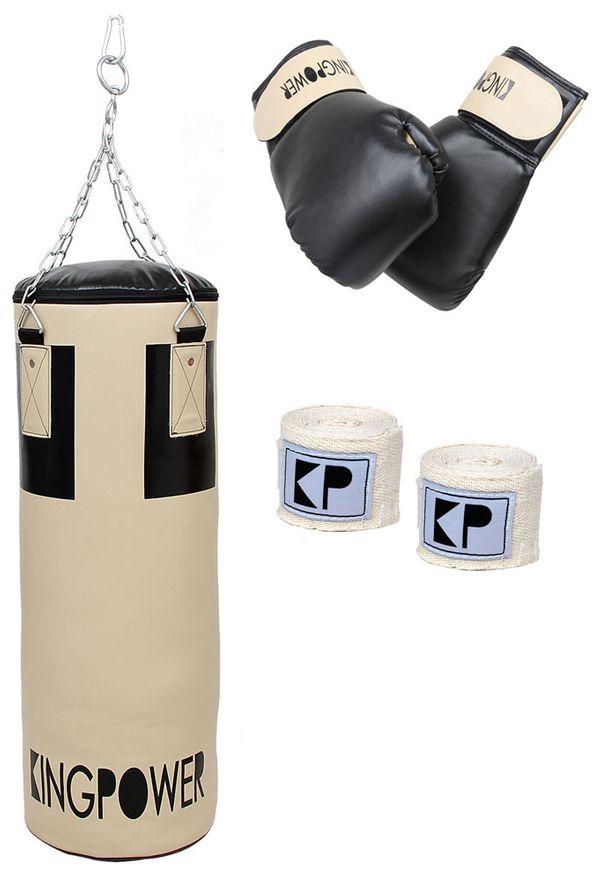 Boxset Set Boxsack Sandsack Boxhandschuhe Bandagen Boxen Halterung Kingpower – Bild 1