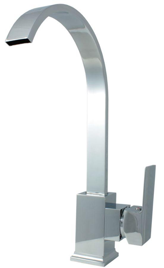 Design Low Pressure Single lever Faucet Tap Basin Massive Mixer Chrome – Bild 1