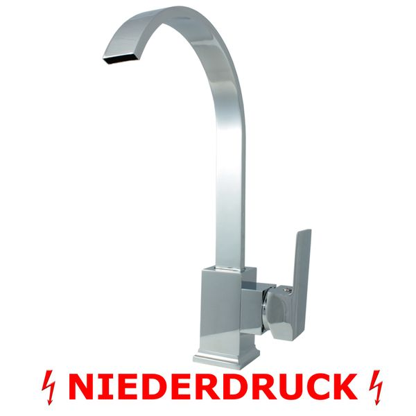Design Low Pressure Single lever Faucet Tap Basin Massive Mixer Chrome – Bild 2