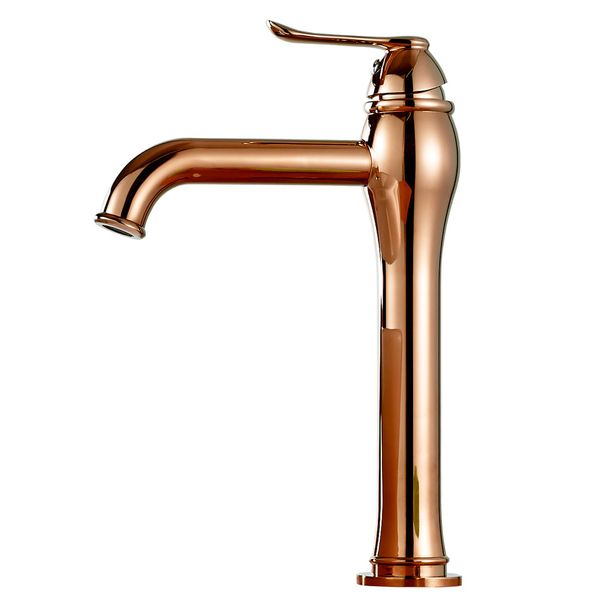 Sanlingo Design Bathroom Basin Single Lever Tap Mixer Rose Gold Plated KARA Series – Bild 1