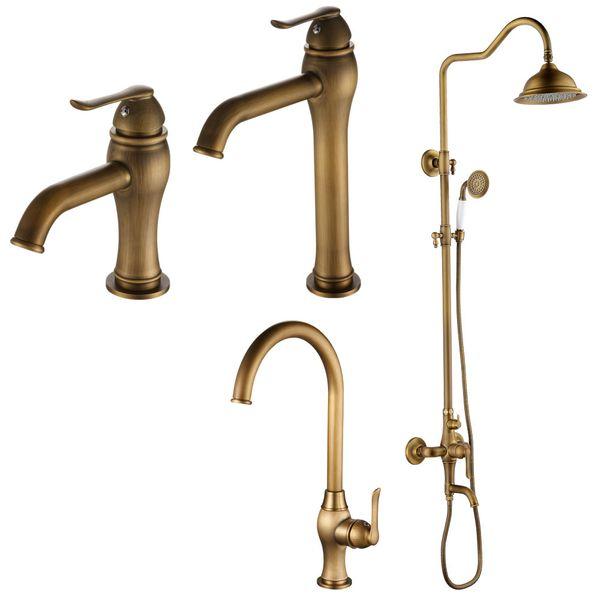 Kitchen Mono Tap Mixer Sink Antique Brass Swivel Spout Sanlingo RASA Series – Bild 5