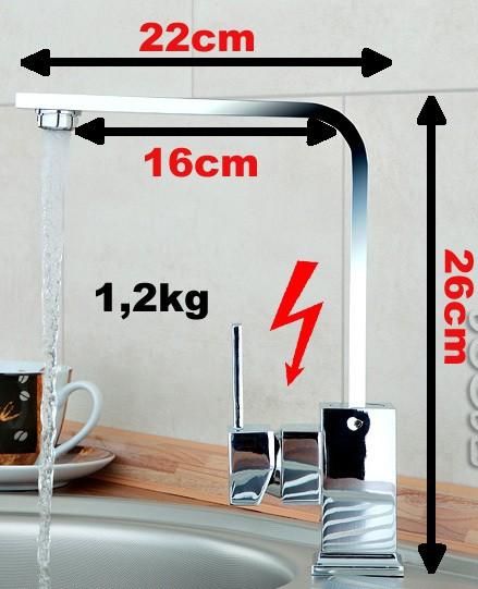 Moderne Designer Spültisch Küchenarmatur – Bild 2