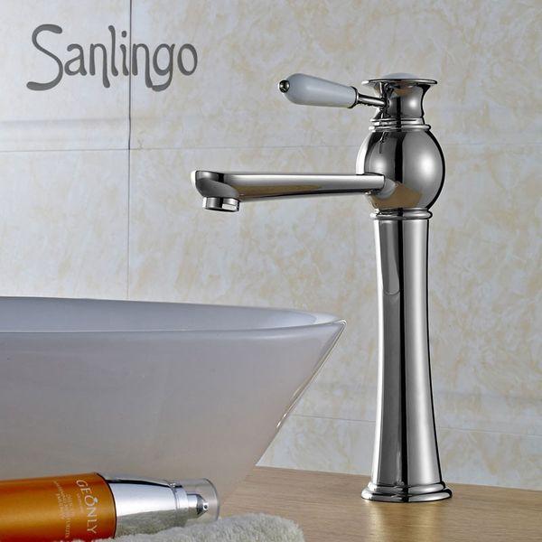 Retro Bagno Rubinetto Miscelatore Monocomando Lavabo Cromo Sanlingo Serie AIKO – Bild 2