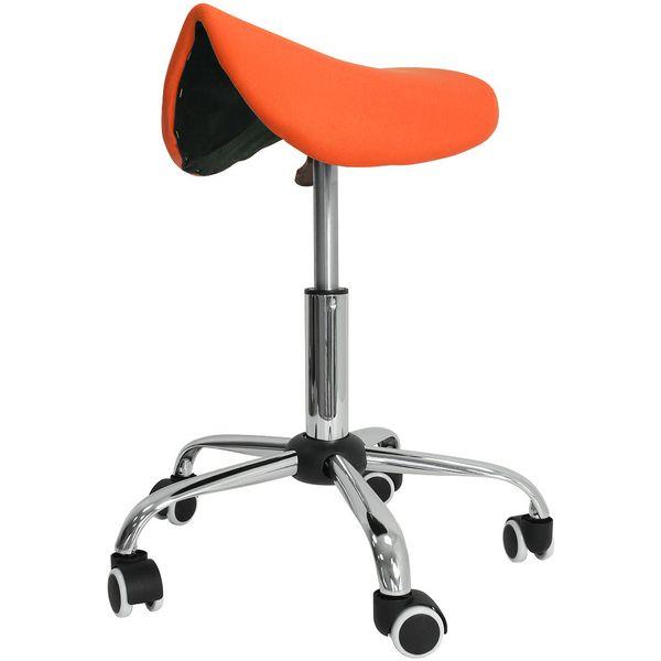 Kosmetik Arbeitshocker Massage Hocker Sattelform, höhenverstellbar, orange – Bild 2
