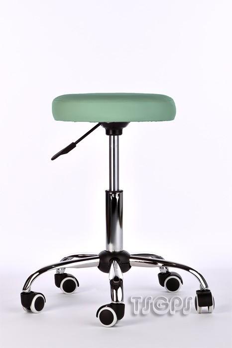 Kosmetik Arbeitshocker Massage Hocker , höhenverstellbar, türkis grün – Bild 1