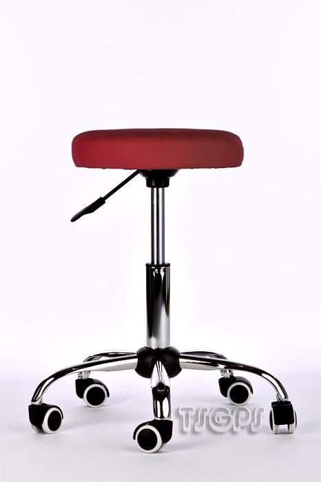 Kosmetik Arbeitshocker Massage Hocker , höhenverstellbar, rot – Bild 2
