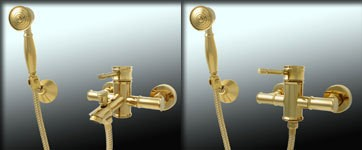 Sanlingo Bath Tub Faucet Mixer Retro Nostalgia Single lever Gold Luis – Bild 3