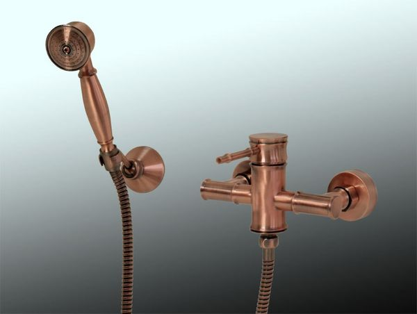 Sanlingo Shower Faucet Mixer Retro Nostalgia Single lever Red Bronze Tessa – Bild 1
