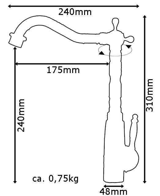 Retro Spültisch Küche Einhebel Armatur Wasserhahn Antik Messing Sanlingo Schwenkbar – Bild 4