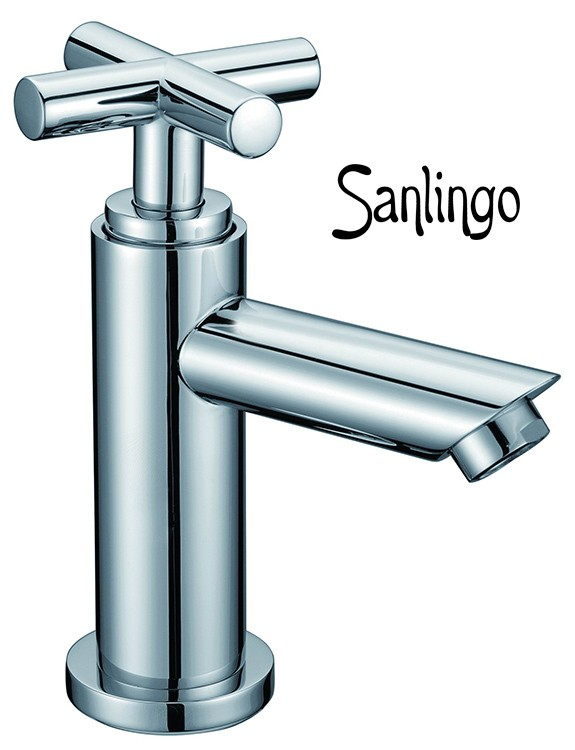 Sanlingo Kaltwasser Armatur Kreuzgriff chrom 1/2-Zoll, für Gäste-WC, VICTORIA