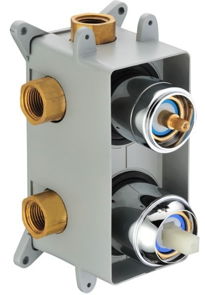Design Unterputz Armatur Einhebel 3-Wege-Umstellung Montagebox Sanlingo Chrom – Bild 3