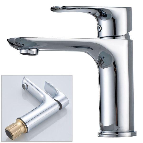 Design Bath Bathroom Wash Basin Single Lever Water Tap Chrome Sanlingo – Bild 1