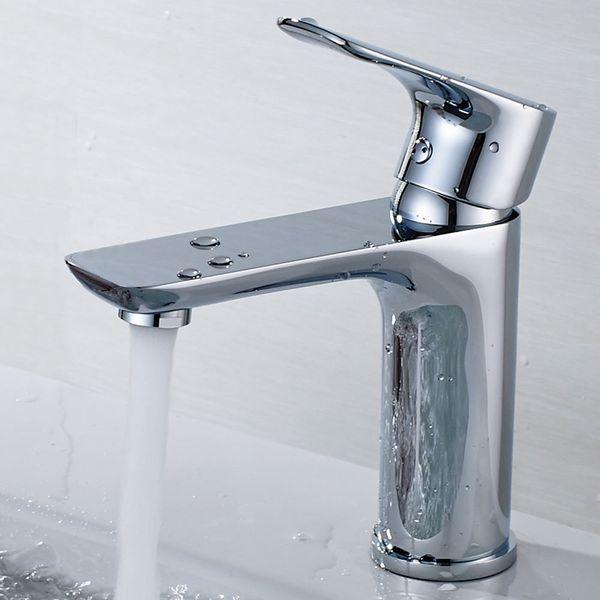 Design Bath Bathroom Wash Basin Single Lever Water Tap Chrome Sanlingo – Bild 2
