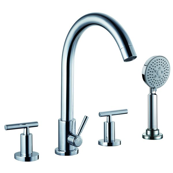 Design 4 Hole Faucet Tap Bathtub with Hand Shower Sanlingo CHESTER – Bild 2