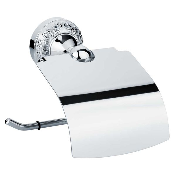 Luxury Retro Toilet Paper Roll Holder Massive Bathroom Chrome Sanlingo – Bild 1