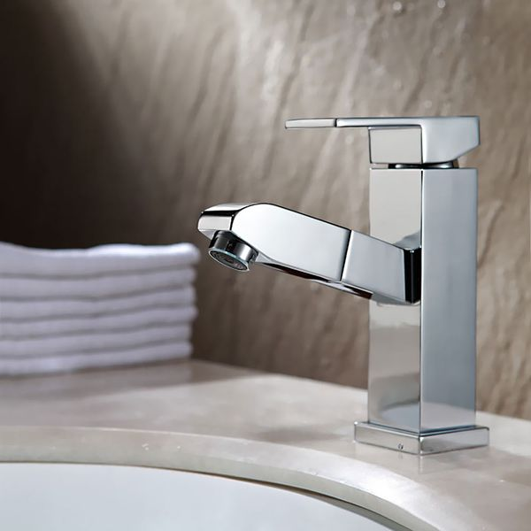 Bathroom Basin Pullout Spray Wash Overhead-shower for Hair washing Tap Sanlingo – Bild 1
