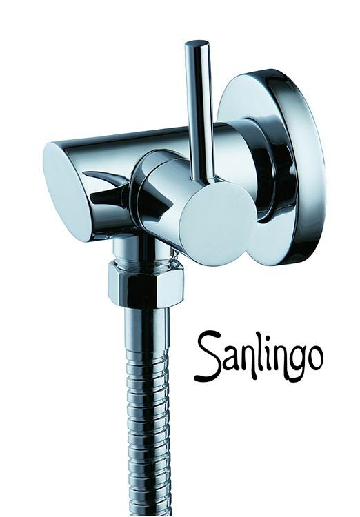 Sanlingo Design Wandanschlussbogen mit Absteller, Eckventil – Bild 1
