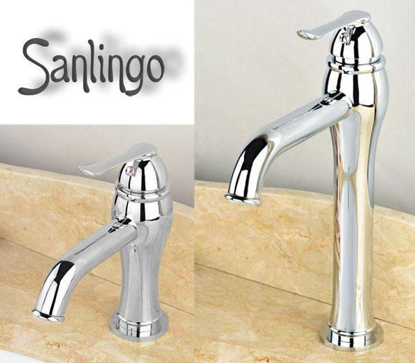 Design Bad Waschbecken Einhebel Armatur Chrom Sanlingo SIBA – Bild 4