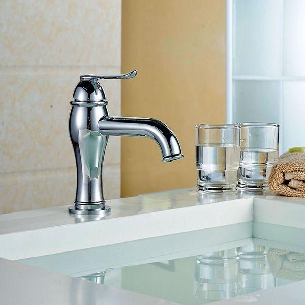 Design Bad Waschbecken Einhebel Armatur Chrom Sanlingo SIBA