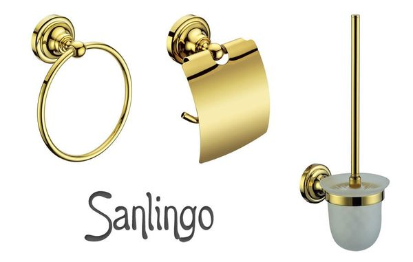 Luxury Toilet Paper Roll Holder Massive Brass Bathroom Sanlingo Gold Design BS1 – Bild 7