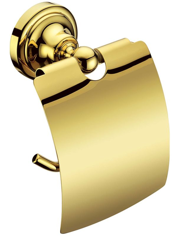Luxury Toilet Paper Roll Holder Massive Brass Bathroom Sanlingo Gold Design BS1 – Bild 1
