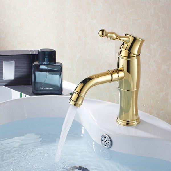 Retro Washstand Basin Bath Single Lever Tap Mixer Gold Sanlingo – Bild 1