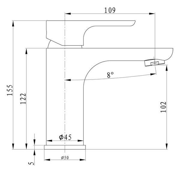 Chrome White Modern Design Bath Basin Single Lever Tap Mixer Sanlingo – Bild 3