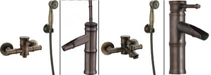 Badewanne Armatur Nostalgie Retro Einhebel Antik Messing Design Sanlingo Iris – Bild 3