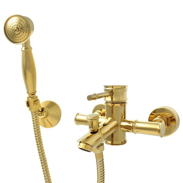 Sanlingo Bath Tub Faucet Mixer Retro Nostalgia Single lever Gold Luis – Bild 1
