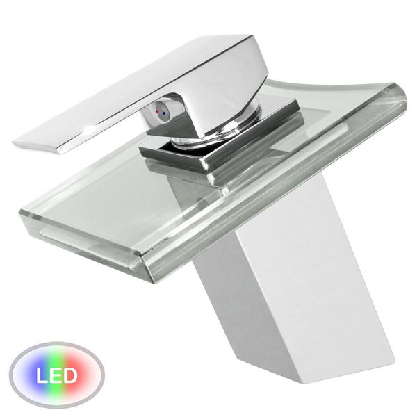 SQUARE WATERFALL FAUCET LED WITH LIGHTS IN 3 COLOURS – Bild 2