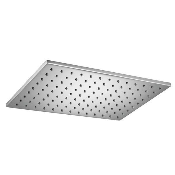 Design Rain Shower Head 200 x 300 mm Angular Solid Brass Chrome Sanlingo – Bild 2