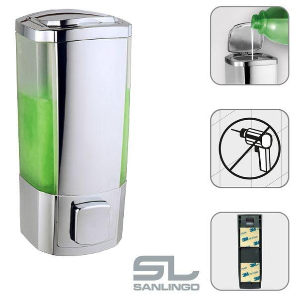 Dispenser Distributore Erogatore Sapone Liquido 300 ml Parete Bagno Cucina Sanlingo – Bild 2