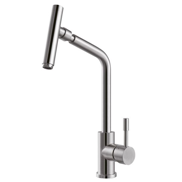 Kitchen Sink Mixer  - real brushed Stainless Steel 100% - from Sanlingo – Bild 1