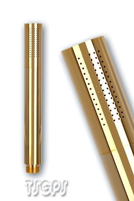 Schöne runde Handbrause Stabbrause Mikrofonbrause Gold