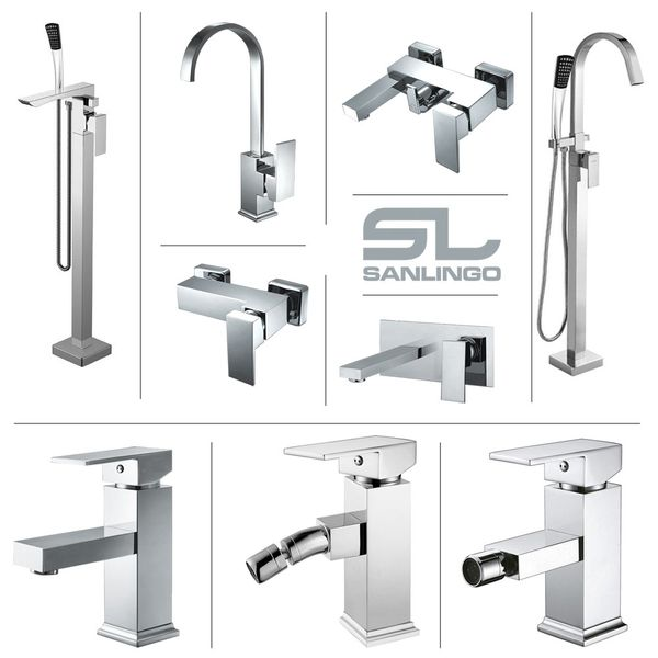 Design Single Lever Faucet Shower Chrome High Gloss Sanlingo Manchester – Bild 7