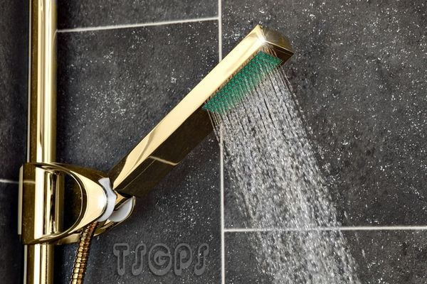 Gold design - Water-saving shower head - heavy quality