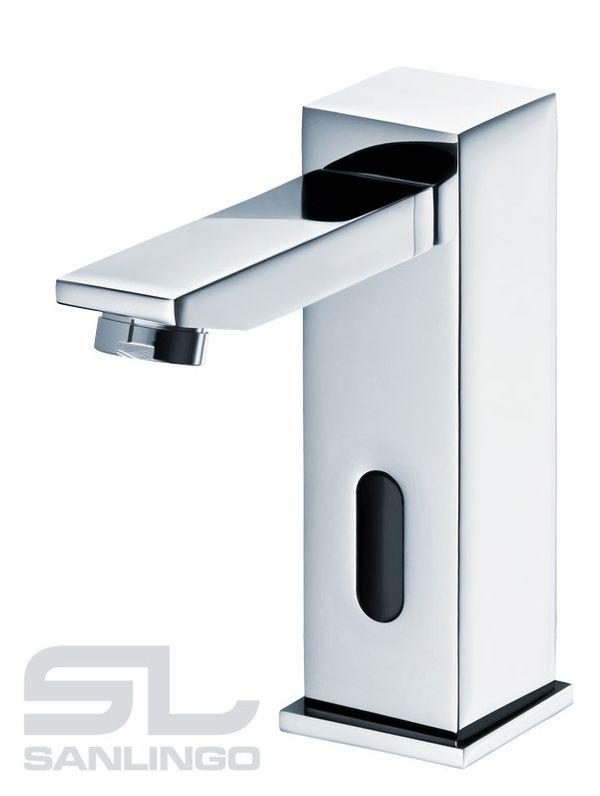 Infrarosso IR Design Lavabo Rubinetto Automatico Cromo Acqua fredda e calda – Bild 1